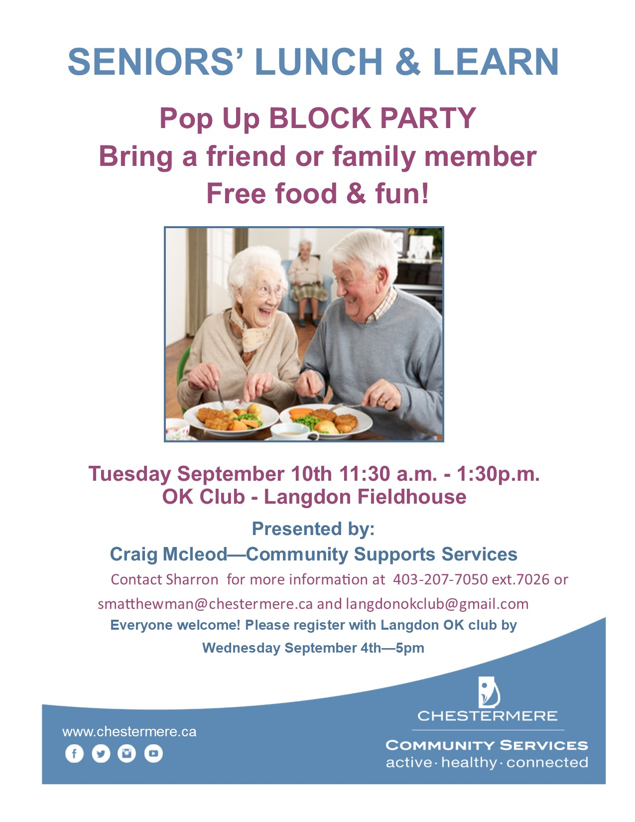 September Final Seniors Lunch and Learn